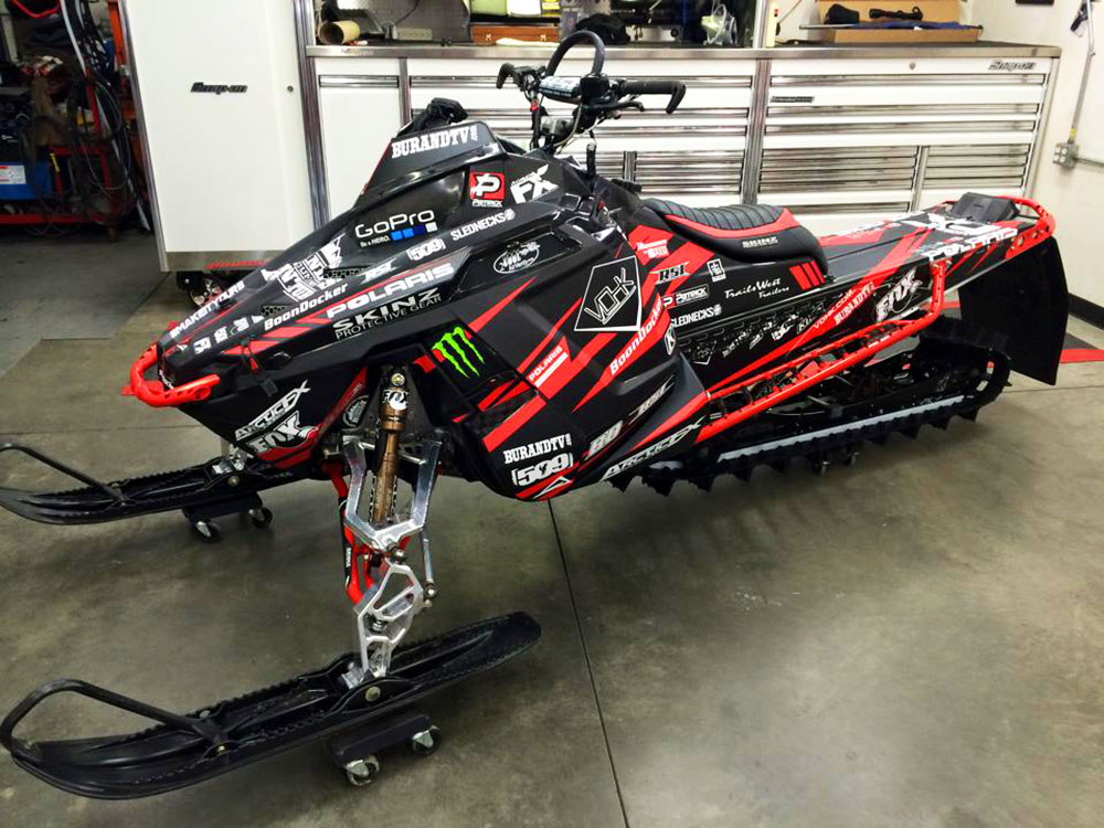 Polaris Pro RMK Chris Burandt Signature X-Games ArcticFX Sled Wrap