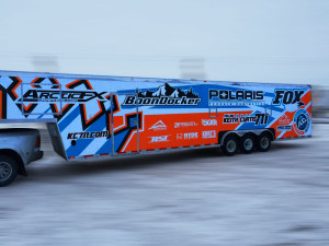 Keith Curtis KC711 trailer wrap designed by ArcticFX Graphics LLC - www.arcticfxgraphics.com