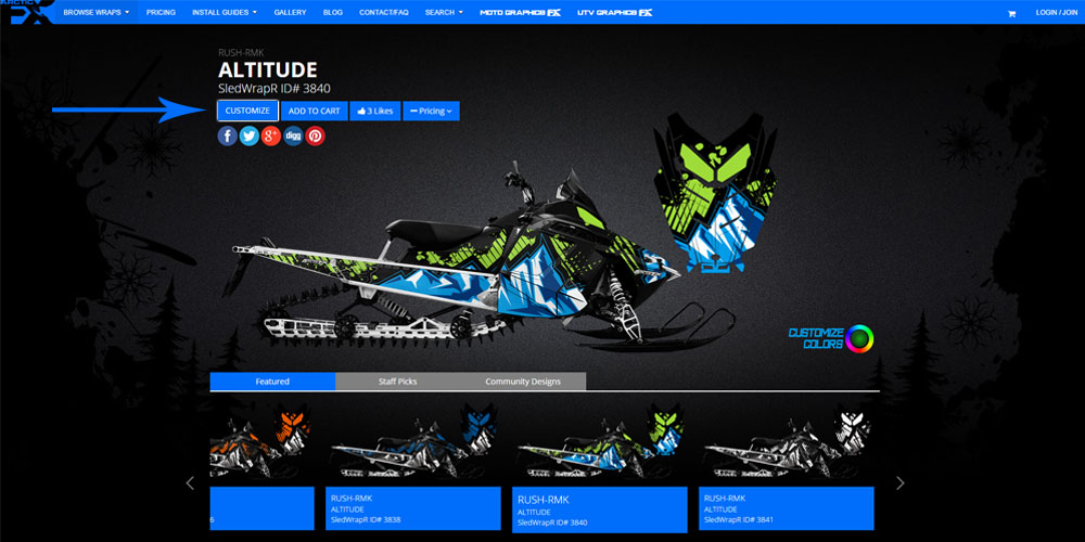 ArcticFX Graphics | SledWrapR Customization Tool