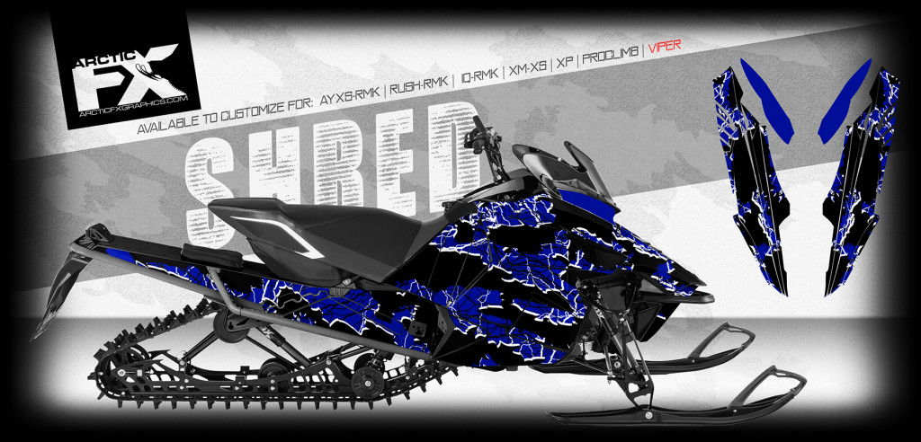 ARCTICFX 2016 SLED WRAPS - SHRED - YAMAHA VIPER