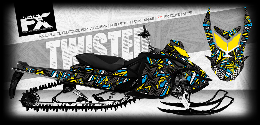 ARCTICFX 2016 SLED WRAPS - TWISTED - SKIDOO XP