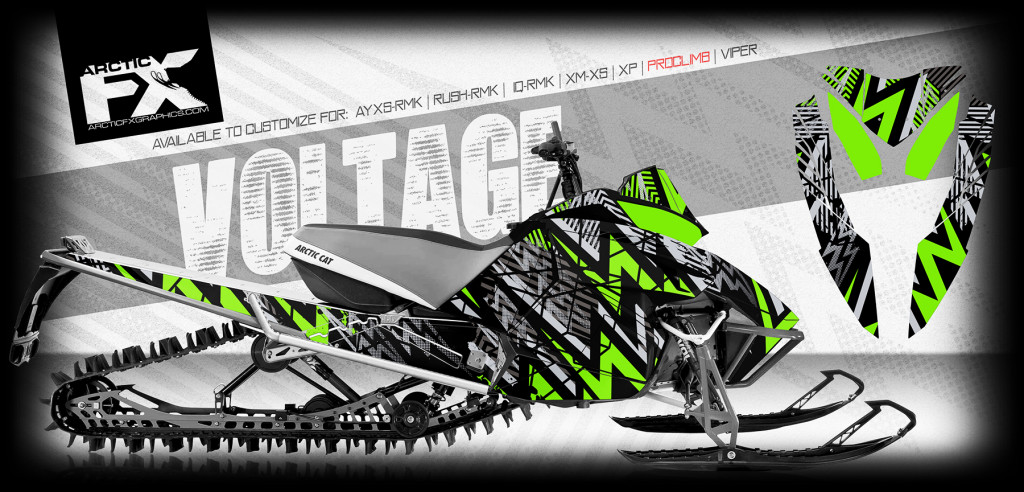 ARCTICFX 2016 SLED WRAPS - VOLTAGE - ARCTIC CAT PROCLIMB-PROCROSS