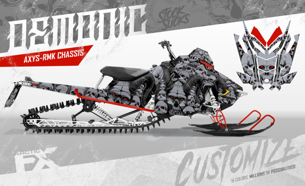 Shown on Polaris Axys-RMK Chassis - available for all current models.