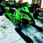 Arctic Cat Mountain Cat Sled Wraps from ArcticFX Graphics