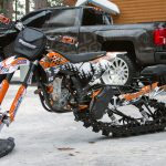 KTM Snow Bike Graphics from MotoFX Graphics