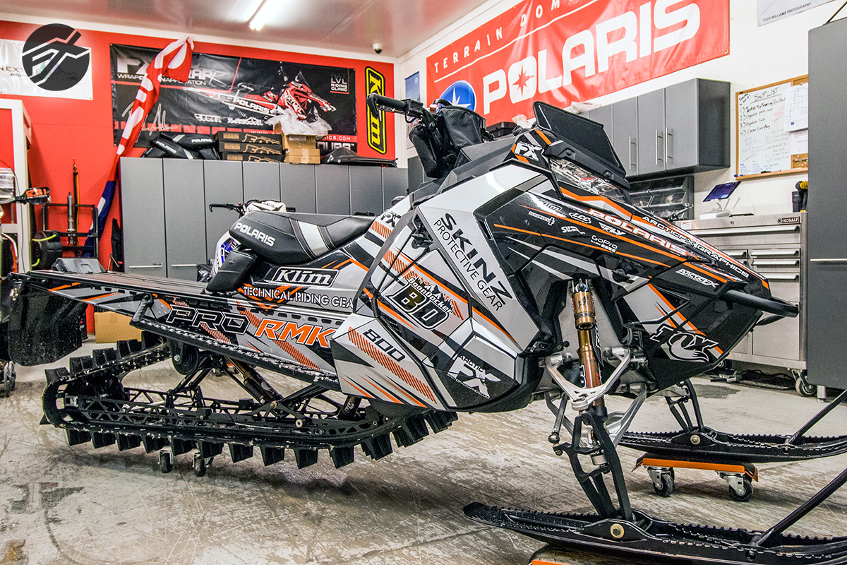 Polaris Sled Wraps Image Gallery from ArcticFX Graphics