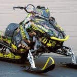 Polaris Axys ProRMK Camo Sled Wraps from ArcticFX Graphics