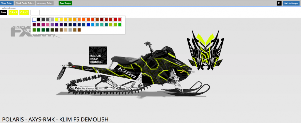 Polaris Axys RMK Klim F5 Demolish SledWrapR Design Tool from ArcticFX graphics